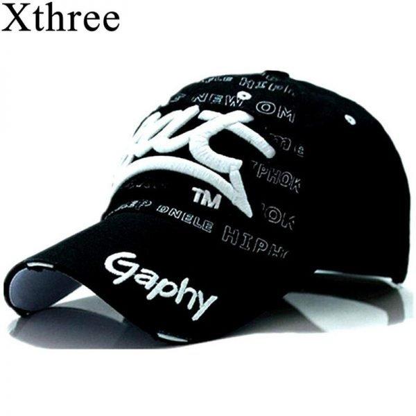 Xthree wholesale snapback hats baseball cap hats hip hop fitted cheap hats for men women gorras curved brim hats Damage cap 2