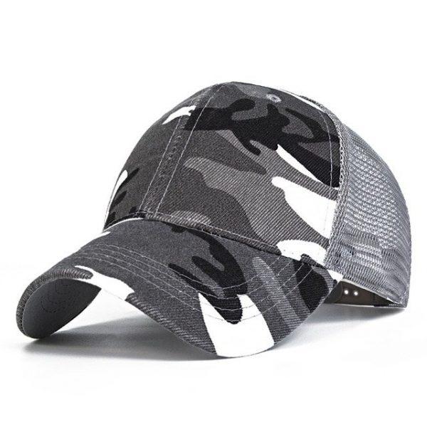Snow Camo Baseball Caps Men Summer Mesh Cap Tactical Camouflage Hat For Men Women High Quality Bone Masculino Dad Hat Caps 2