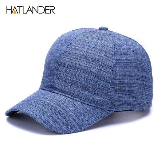 [HATLANDER]Drop shipping Cotton linen solid sports hats 6panel plain caps adjustable gorras casual baseball caps for men women 2