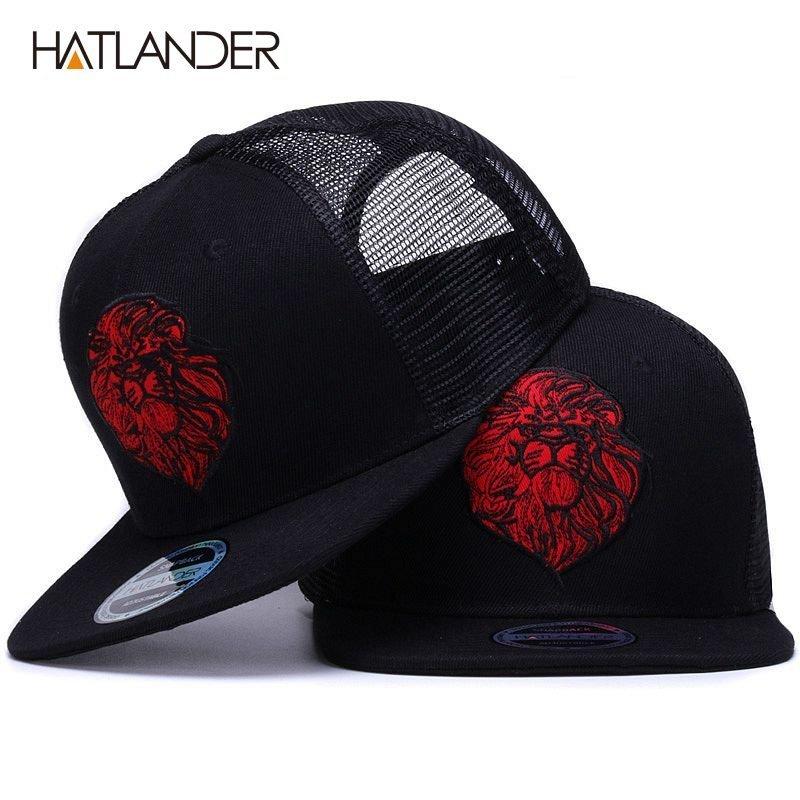 22a9dc2ffded6c [HATLANDER]Original black baseball caps for boys girls summer sun hats  embroidery lion mesh snapbacks hip hop bone trucker hat - Cap shop |  Amazing Cap ...