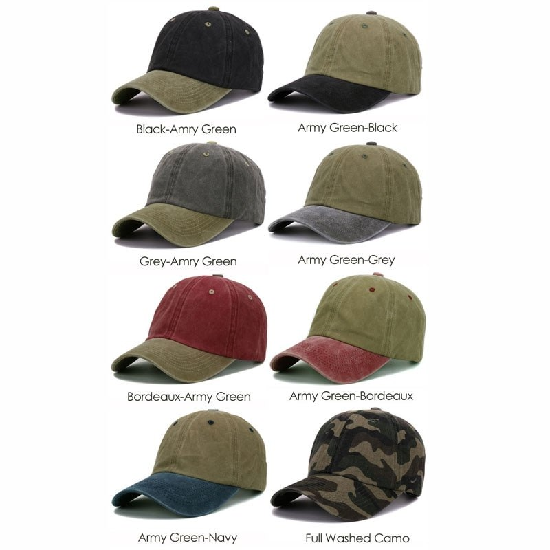Unisex Heavy Washed Cotton Army Cap