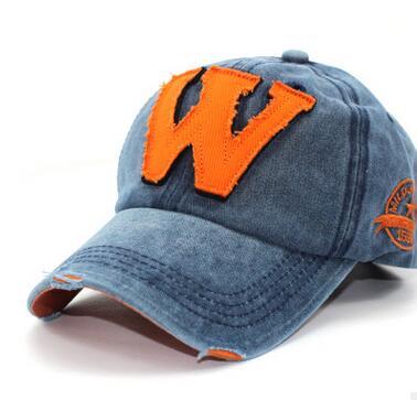 1pcs/lot free shipping korean style man casual w baseball cap female cotton summer w baseball cap 2