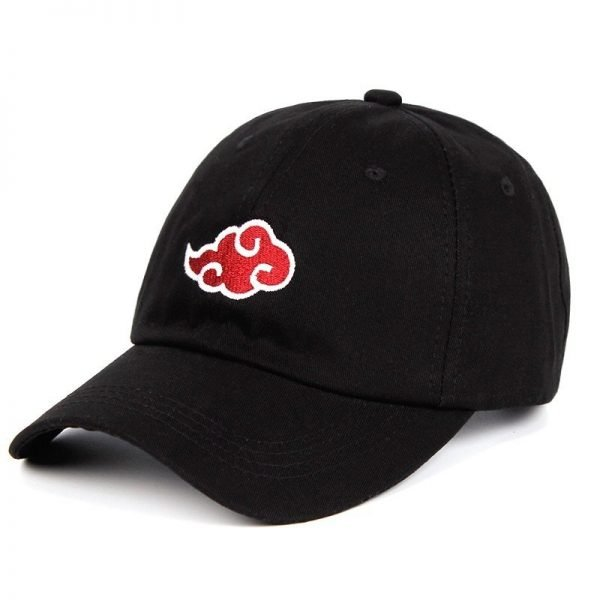 Anime Lovers Akatsuki Logo Dad Hat Uchiha Family Logo 100% Cotton Embroidery Baseball Caps Black Snapback Hat Red Cloud 4