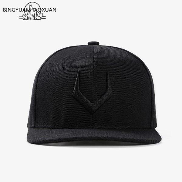 2020 High Quality Gray Wool Snapback 3D Pierced Embroidery Hip Hop Cap Flat Bill Baseball Cap for Adult 8