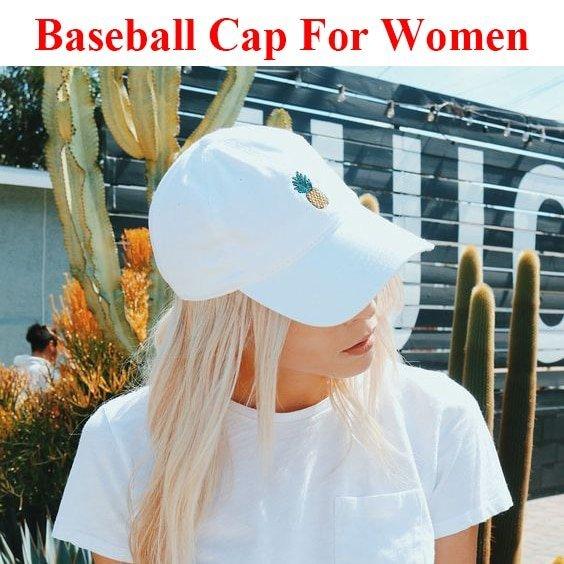 Baseball Cap Women Men Pineapple Embroidery dad hat Trucker Fashion Unisex Snapback hip hop cap Summer Hats Streetwear casquette 4