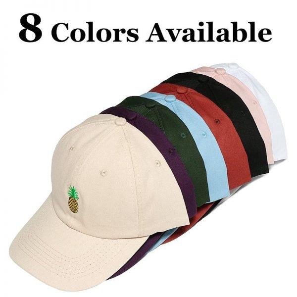 Baseball Cap Women Men Pineapple Embroidery dad hat Trucker Fashion Unisex Snapback hip hop cap Summer Hats Streetwear casquette 12