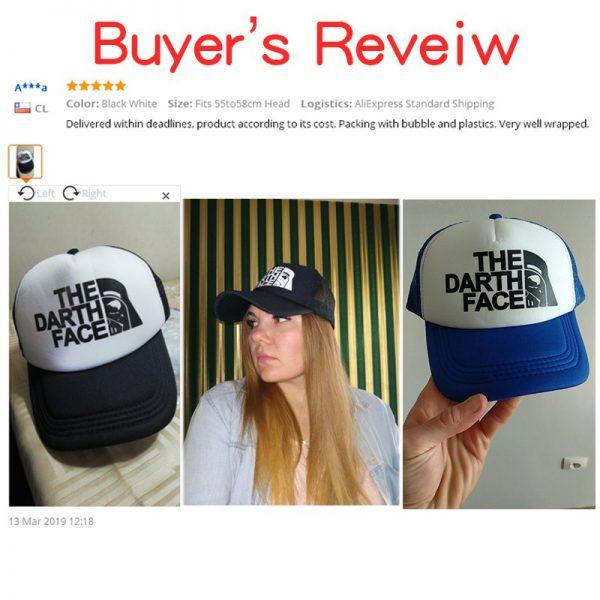 CLIMATE Darth Trucker Cap Star Darth Wars Funny Caps Men The Darth Face Hat Baseball Cap Cool Summer Mesh Net Cap Hat for Men 4