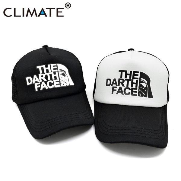 CLIMATE Darth Trucker Cap Star Darth Wars Funny Caps Men The Darth Face Hat Baseball Cap Cool Summer Mesh Net Cap Hat for Men 6