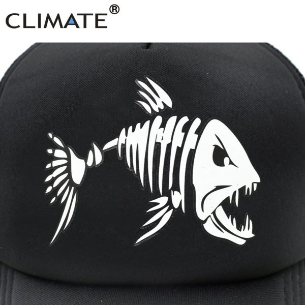 CLIMATE Fishbone Trucker Cap Men Fishing Skeleton Fish Bone Cap HipHop Baseball Caps Summer Fisher Man Mesh Caps Hat for Men 8