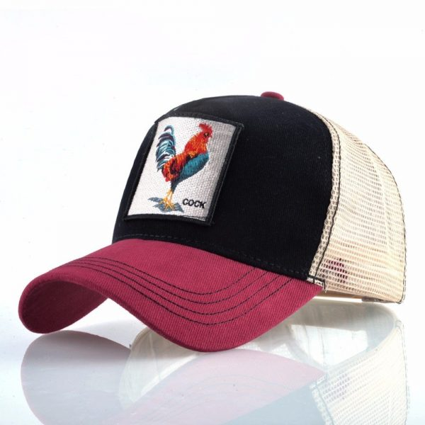 Cock Embroidery Baseball Cap Men Women Snapback Caps Breathable Mesh Hip Hop Hats Unisex Casual Eat Chicken Bone Casquette 4