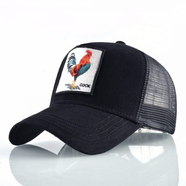 Cock Embroidery Baseball Cap Men Women Snapback Caps Breathable Mesh Hip Hop Hats Unisex Casual Eat Chicken Bone Casquette 6