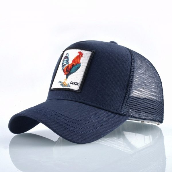 Cock Embroidery Baseball Cap Men Women Snapback Caps Breathable Mesh Hip Hop Hats Unisex Casual Eat Chicken Bone Casquette 8
