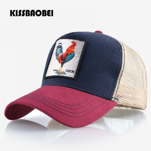 Cock Embroidery Baseball Cap Men Women Snapback Caps Breathable Mesh Hip Hop Hats Unisex Casual Eat Chicken Bone Casquette 2