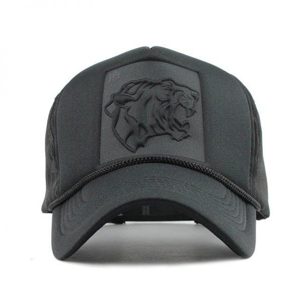 [FLB] 2019 Hip Hop Black leopard Print Curved Baseball Caps Summer Mesh Snapback Hats For Women Men casquette Trucker Cap 2