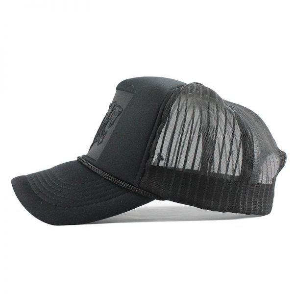 [FLB] 2019 Hip Hop Black leopard Print Curved Baseball Caps Summer Mesh Snapback Hats For Women Men casquette Trucker Cap 3