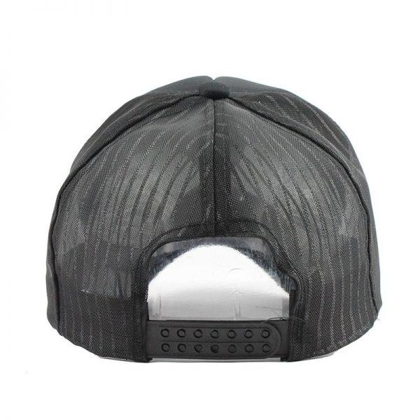[FLB] 2019 Hip Hop Black leopard Print Curved Baseball Caps Summer Mesh Snapback Hats For Women Men casquette Trucker Cap 4