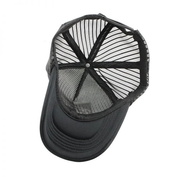 [FLB] 2019 Hip Hop Black leopard Print Curved Baseball Caps Summer Mesh Snapback Hats For Women Men casquette Trucker Cap 5