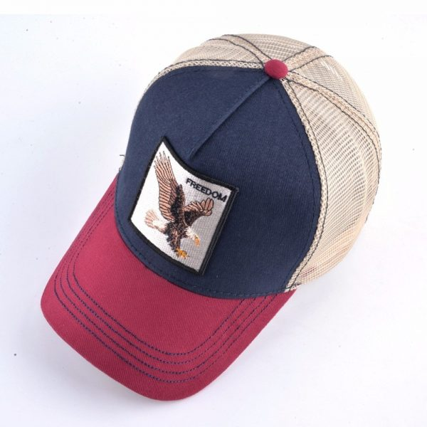 2020 Fashion Animals Embroidery Baseball Caps Men Women Snapback Hip Hop Hat Summer Breathable Mesh Sun Gorras Unisex Streetwear Bone 8