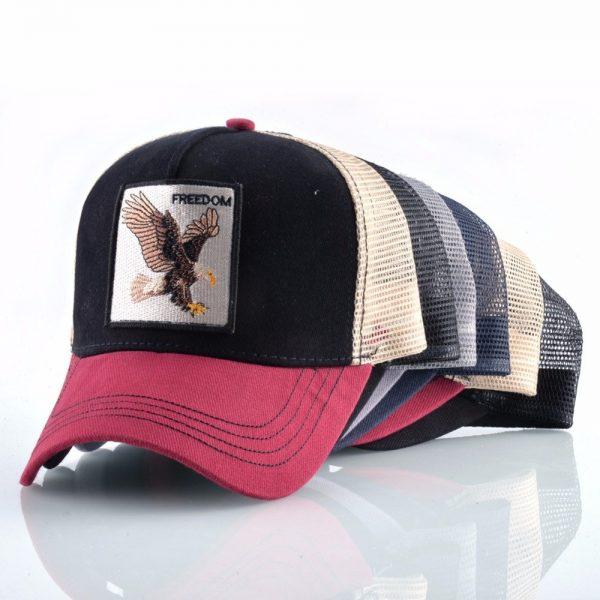 2020 Fashion Animals Embroidery Baseball Caps Men Women Snapback Hip Hop Hat Summer Breathable Mesh Sun Gorras Unisex Streetwear Bone 12