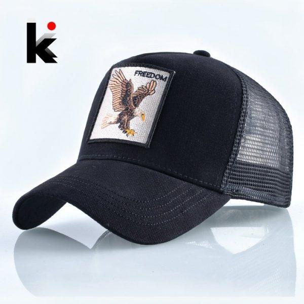 2020 Fashion Animals Embroidery Baseball Caps Men Women Snapback Hip Hop Hat Summer Breathable Mesh Sun Gorras Unisex Streetwear Bone 2