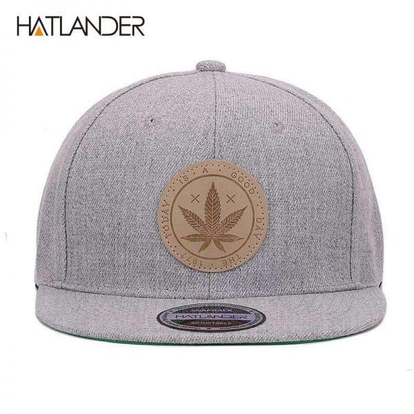 [HATLANDER]Maple solid cotton snapback caps women's flat brim hip hop cap outdoor baseball cap bone gorras mens caps and hats 4