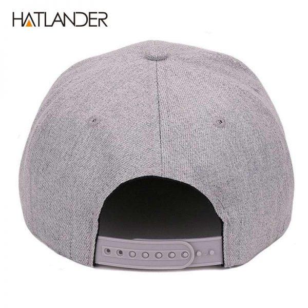 [HATLANDER]Maple solid cotton snapback caps women's flat brim hip hop cap outdoor baseball cap bone gorras mens caps and hats 10