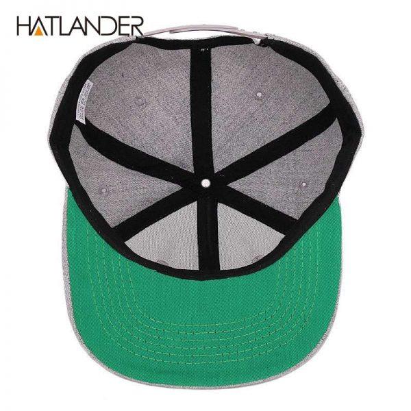 [HATLANDER]Maple solid cotton snapback caps women's flat brim hip hop cap outdoor baseball cap bone gorras mens caps and hats 12
