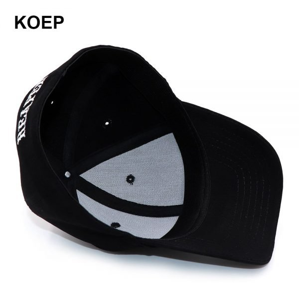 KOEP SOA Black Hats Sons Of Anarchy For Reaper Crew Fitted Baseball Cap Women Men Letters Embroidered Hat Hip Hop Hat For Men 12
