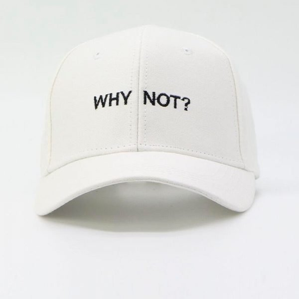 Letter WHY NOT Snapbacks Baseball Cap Hip Hop Hat For Men Women Dad Hat Gorras Boy Girls Cotton Black White Fitted Hat Bone Caps 4