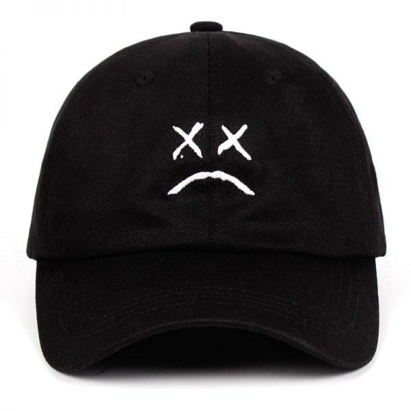 Lil Peep Dad Hat Embroidery 100% Cotton Baseball Cap Sad face Hat xxxtentacion Hip Hop Cap Golf Love lil.peep Snapback Women Men 3