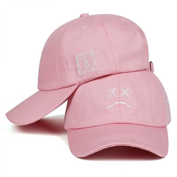 Lil Peep Dad Hat Embroidery 100% Cotton Baseball Cap Sad face Hat xxxtentacion Hip Hop Cap Golf Love lil.peep Snapback Women Men 6