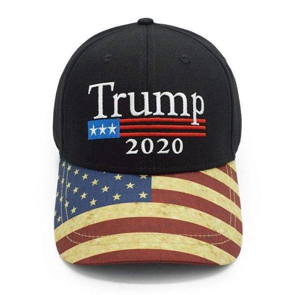 New Vintage Trump 2020 Hat USA Flag Baseball Cap Men Women Snapback Hats Embroidery Bone Unisex Casual Trump Snapback Cap Gorras 4