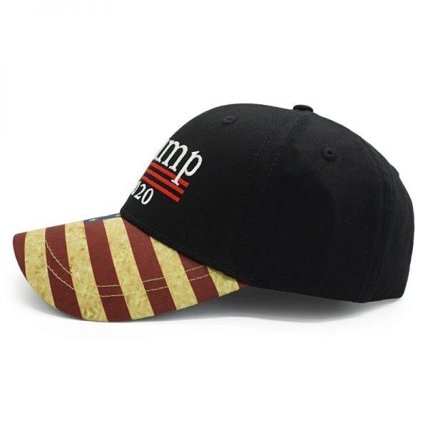 New Vintage Trump 2020 Hat USA Flag Baseball Cap Men Women Snapback Hats Embroidery Bone Unisex Casual Trump Snapback Cap Gorras 8