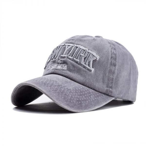 Sand washed 100% cotton baseball cap hat for women men vintage dad hat NEW YORK embroidery letter outdoor sports caps 4