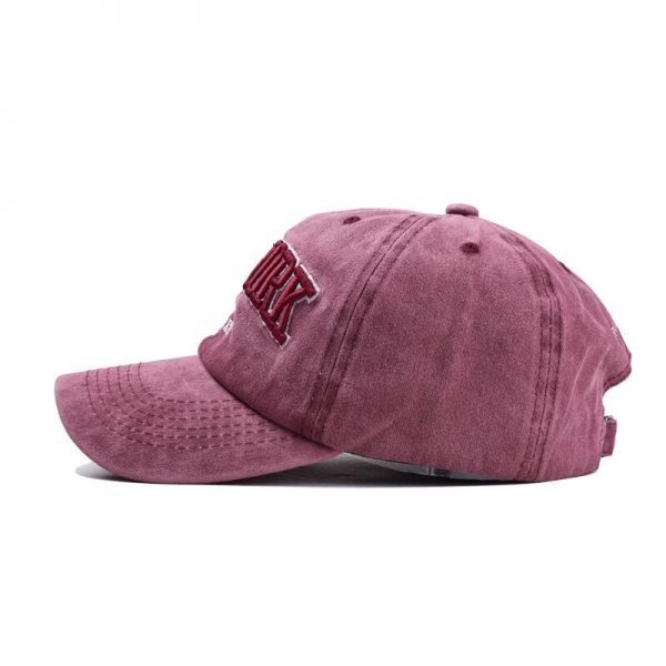 Sand washed 100% cotton baseball cap hat for women men vintage dad hat NEW YORK embroidery letter outdoor sports caps 8