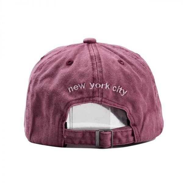 Sand washed 100% cotton baseball cap hat for women men vintage dad hat NEW YORK embroidery letter outdoor sports caps 10