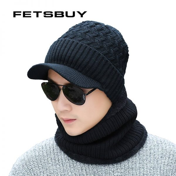 2018 Winter Beanie Hat Scarf skullies beanies Soft Skull Warm Baggy Cap Mask Gorros Winter Hats For Men Women Knitted Hat 10