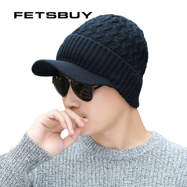 2018 Winter Beanie Hat Scarf skullies beanies Soft Skull Warm Baggy Cap Mask Gorros Winter Hats For Men Women Knitted Hat 12