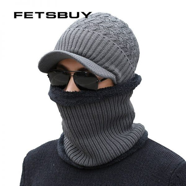 2018 Winter Beanie Hat Scarf skullies beanies Soft Skull Warm Baggy Cap Mask Gorros Winter Hats For Men Women Knitted Hat 2