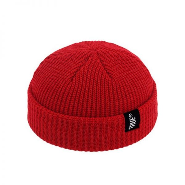 2021 Fashion Unisex Winter Hat Men Cuffed Cib Knit Hat Short Melon Ski Beanies Autumn Winter Solid Color Casual Beanie Hat 6