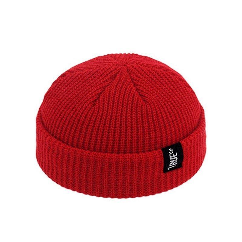 2019 Fashion Unisex Winter Hat Men Cuffed Cib Knit Hat Short Melon Ski Beanies Autumn Winter Solid Color Casual Beanie Hat 5