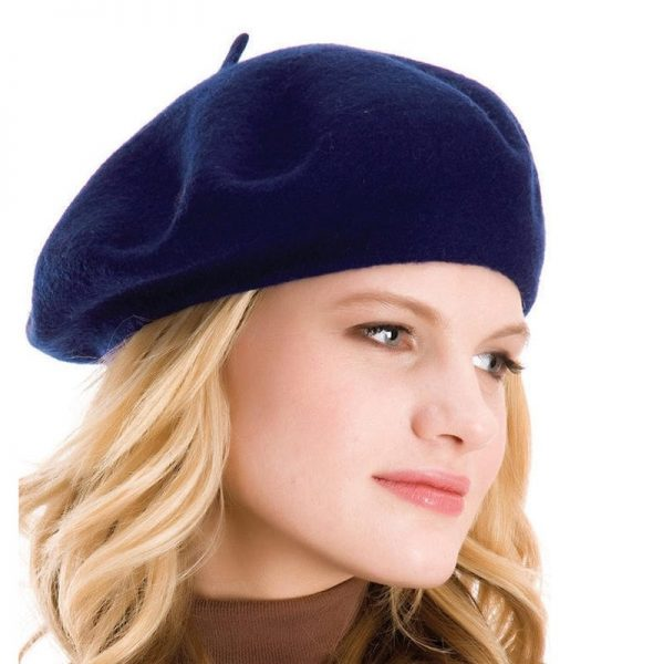 Elegant Lady Women Wool Felt Warm French Classic Beret Beanie Slouch Hat Cap Tam 8