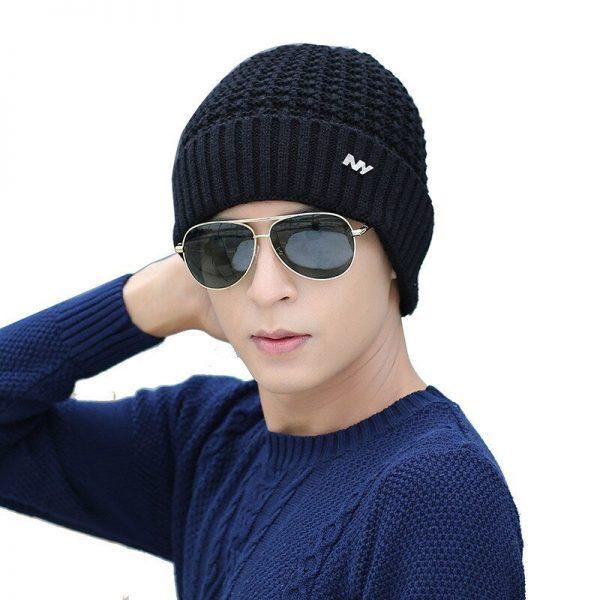 FETSBUY 2018 Winter Beanie Hat Scarf skullies beanies oft Skull Warm Baggy Cap Mask Gorros Winter Hats For Men Women Knitted Hat 6