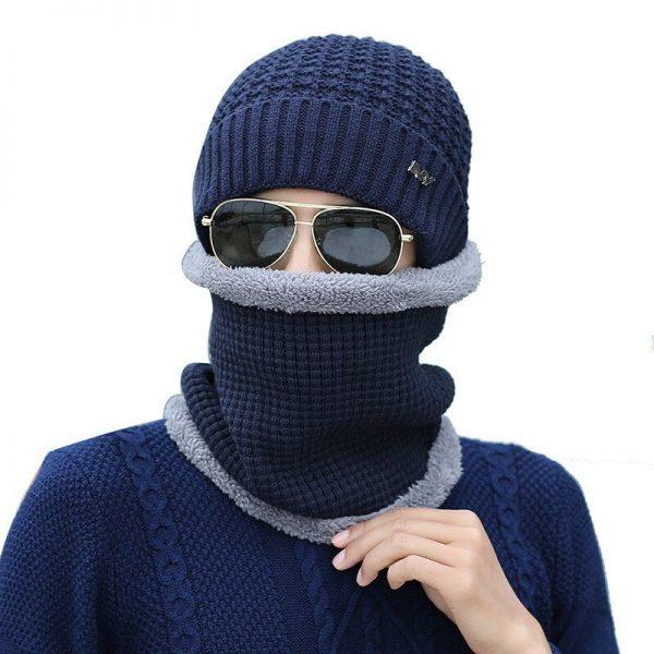 FETSBUY 2018 Winter Beanie Hat Scarf skullies beanies oft Skull Warm Baggy Cap Mask Gorros Winter Hats For Men Women Knitted Hat 10