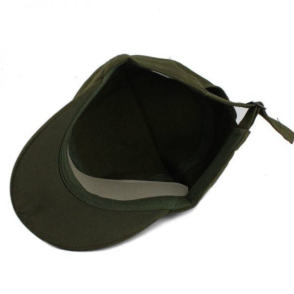 FETSBUY Adult Gorras High quality Washed Cotton Adjustable Solid Color Military Hat Unisex German Army Caps Baseball Hats 12