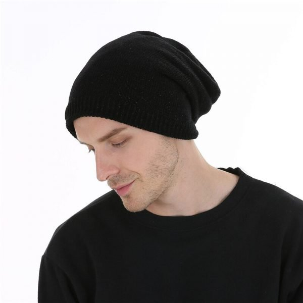 FETSBUY  Autumn And Winter Bonnet Beanies Hat Women Fashion Flashing line Knitted Skullies Beanie Cap Men Add Velvet Warm #19009 6