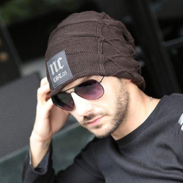 FETSBUY Brand Beanies Knit Men'S Winter Hat Caps Thick Skullies Bonnet Hats For Men Women Beanie Female Warm Baggy Knitted Hat 8