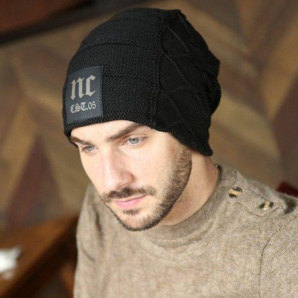 FETSBUY Brand Beanies Knit Men'S Winter Hat Caps Thick Skullies Bonnet Hats For Men Women Beanie Female Warm Baggy Knitted Hat 10