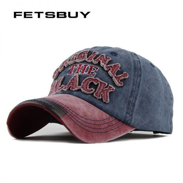 FETSBUY Hot Retro Baseball Bap Fitted Cap Snapback Hat for men women gorras casual casquette Letter embroidery black cap F122 2