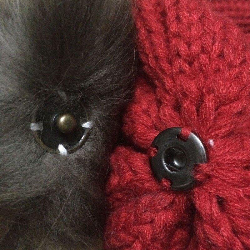 FETSBUY Mink Fur Ball Cap Gray Pom Poms Winter Hat For Women Girl 'S Wool Hat Knitted Cotton Beanies Cap Brand Thick Female Cap 11